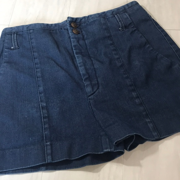 Zara Pants - Zara High Rise Denim Shorts M